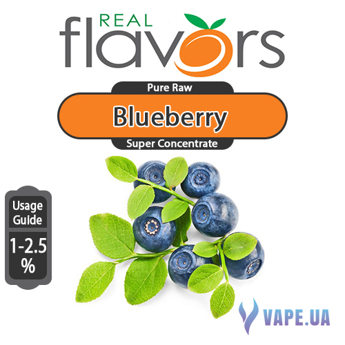 Ароматизатор Real Flavors  Super Concentrate Blueberry (Голубика), 10 мл.