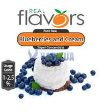 Real Flavors (SC) - Blueberries and Cream (Черника и крем), 10 мл.
