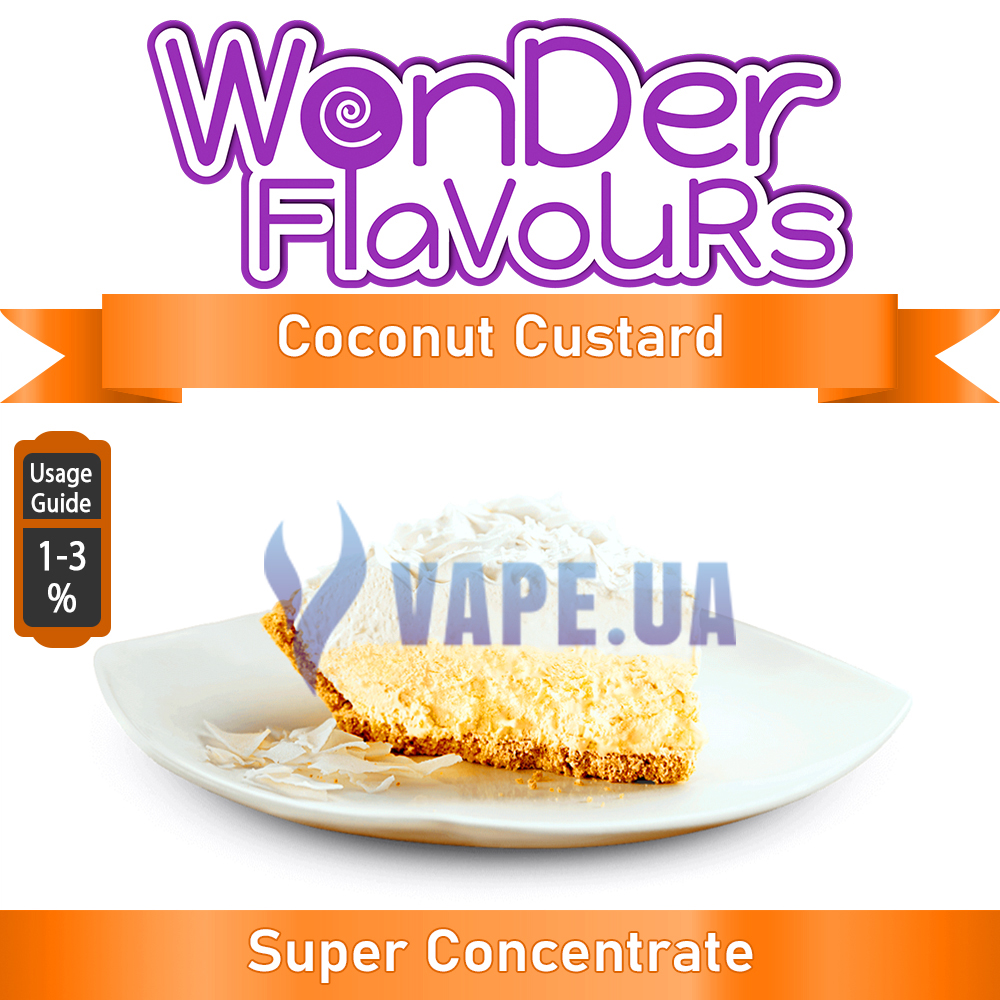 Ароматизатор Wonder Flavours (SC) - Coconut Custard (Кокосовый крем), 5 мл.